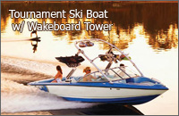 Tournament Ski Boat with Wakeboard Tower